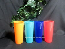 Tupperware NEW Classic Set of 4 Multi Color 16 oz Stacking Tumblers Cups
