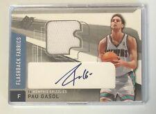2004-05 Pau Gasol SPX Flashback Fabrics Jersey & Autographed Card #149