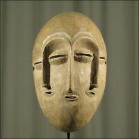 59721) Afrikanische Lengola Holz Maske Kongo Afrika KUNST