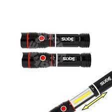 2 Pack NEBO 6156 SLYDE 250 Lumen LED Flashlight / work light Magnet base redline