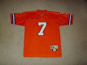 Reebok sewn John Elway Denver Broncos 1990 Gridiron Classic Orange #7 LG Jersey