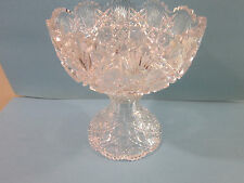 "Exceptional ABP American Brilliant Period Cut Glass Punch Bowl 10"" Rd 11"" Tall"
