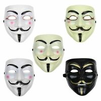 Anonymous Hacker V for Vendetta Guy Fawkes Fancy Dress Face Mask Cosplay Costume