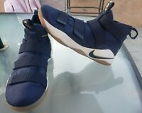 Nike LeBron Soldier XI 11 Midnight Navy Blue Basketball Shoes 897644-402 Sz 9.5