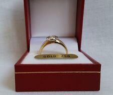 LUIGI MERANO 750 bicolor Gold SOLITÄR RING 0,5 Karat Diamant BRILLANT gr.57  18
