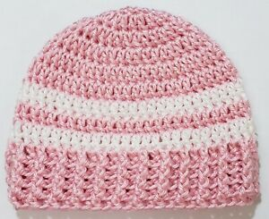 SALE Beanie 3 - 6 Months Hat Girls Baby 1 EACH Handmade Crochet Striped