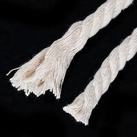 10m Schnur aus Baumwolle geflochten grau-weiß 8mm Leine Seil Gartenschnur DIY