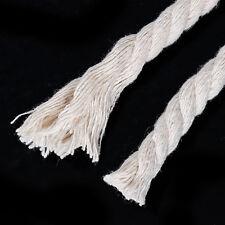 10m Cordon en Coton tressé gris-blanc 8mm Laisse Corde Cordeau