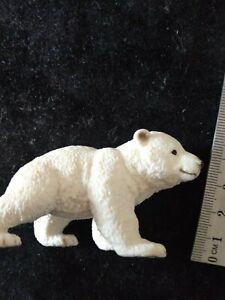 Schleich - Polar Bear Cub in Walking Pose toy figure used Wild Life #14708