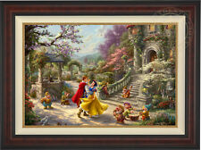 Thomas Kinkade Studios Snow White Dancing in the Sunlight 24 x 36 S/N LE Canvas