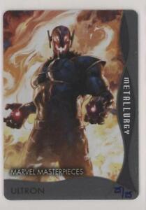 2020 Upper Deck Marvel Masterpieces Metallurgy Ultron 25/25 + Annual Plate 1/1