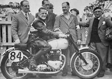 Triumph 500 GP Grand Prix & Crossley - winners 1948 Manx GP - photo