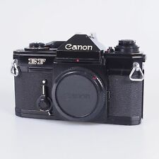 `Canon Black Paint EF 35mm SLR Film Camera With 50mm F1.8 S.C. Lens