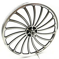 Aluminum Bicycle Front or Rear Wheel 20 X 1.75/2.125/2.5'' eBike Chopper Sturdy