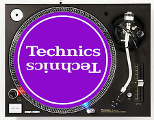 TECHNICS MIRROR WHITE ON PURPLE - DJ SLIPMATS (1 PAIR) 1200's or any turntable