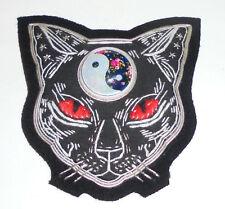 Black Cat Yin Yang Day Night Good Evil Alpha Omega Male Female Daoism Robe Patch