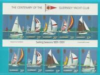 Reino Unido Gurensey De 1991 Perfecto Estado Minr. 522-526 Bloque 7 Barcos Vela