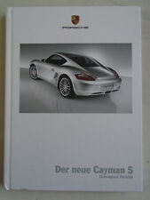 Porsche Cayman S range brochure Jun 2005 hardbacked German text