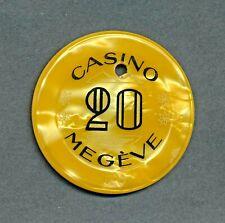 Casino de Megève Mont Blanc 20 Francs Jeton  Rhône-Alps, France