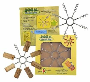 Wine Cork Trivet Remake It DIY Recycle UpCycle 8 Corks into a Trivet NEW-G9