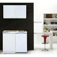 Küche Miniküche Küchenzeile Küchenblock Single Pantryküche 100 cm weiß respekta