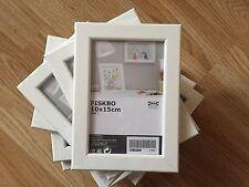 10 x IKEA fiskbo FOTO ARTE Frames 10 x15 cm 4 x 6 pollici Bianco - £ 12.99 GRATIS P&P