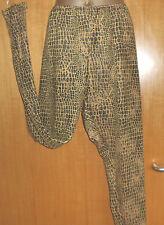 MUSTARD SNAKE/ LEGGINGS/36 INCH WAIST/31 INCH INSIDE LEG