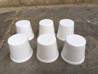 6 x White Plastic Oil Bottle Top Dust Caps Neptune Golden Fleece BP Amoco Mobil