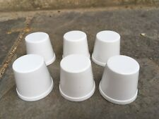 6 x White Plastic Oil Bottle Top Dust Caps Neptune Golden Fleece BP Amoco Mobil