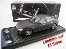 Maserati Ghibli in mattschwarz  BBR  Limitiert auf 25 Stück  1:43  NEU  OVP