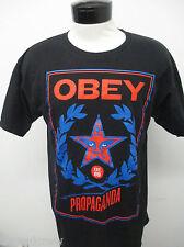 OBEY PROPAGANDA SKATEBOARD T-SHIRT sz XL Black SS mens#165