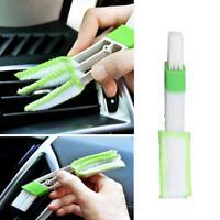 Dual Head Car Air Vent & Dash Detailing Interior Brush Window Blind Dust Cleaner