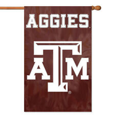 Texas A&M Aggies House Banner Flag PREMIUM Outdoor DOUBLE SIDED Embroidered