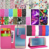 For SAMSUNG GALAXY J3 2017 J330f - Wallet Leather Case Flip Cover + Screen Guard
