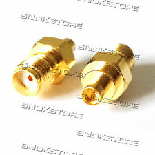 ADATTATORE ADAPTER CONNETTORE sma female to MMCX female connector ANTENNA WIFI