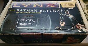 ATARI LYNX II (2) - BATMAN RETURNS & 5 GAMES. WORKING - IN VERY GOOD CONDITION.