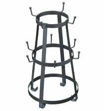 Industrial Kitchen METAL WIRE MUG TREE Tabletop Tall for 10 MUGS
