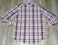 Nautica Shirt Button Down Multi Color Plaid Pattern Short Sleeve Mens Size MED