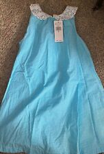 Ralph Lauren- NWT $69.50 turquoise and white dress- PRECIOUS- Size 7