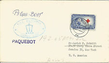 Maritime Mail Cover Posted On Board TSS Olympia To Bremen 27 July 1954 U632