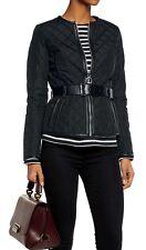 Michael Kors Luxus Jacke  mit Echtem Leder/Ledergürtel Gr.40 Neu!UVP:369€