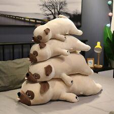 55cm-90cm Big Size Kawaii Pug Dog Plush Toys Sleep Pillow Kids Gift
