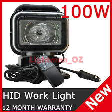100W 360º HID XENON ROTATING REMOTE CONTROL SEARCHLIGHT AUTO 4WD BOAT SPOT LIGHT