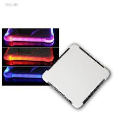 de 12 Ensemble LED Dessous Plats changement couleur RGB verre,Support / en verre