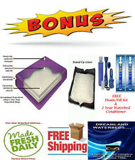 Queen Boyd 70% Waveless Waterbed Mattress + Stand-Up Liner + Free 2 Year Cond.