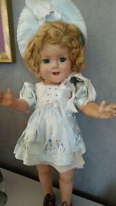 ANCIENNE POUPEE  genuine Doll Collection SHIRLEY TEMPLE 45cm  des années 1930
