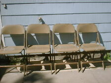 LYON Aurora ILL Metal Folding Chairs Machine Age Industrial Heavy Duty Chair1957