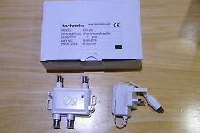 Technetix HDU-200 2 Port Signal Booster for Virgin Media CATV