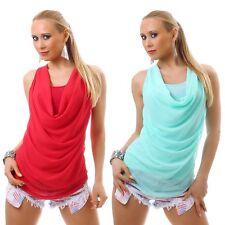 Lockre Sitzende Damenblusen,-Tops & -Shirts im Trägertops-Stil mit Wasserfall und Polyester