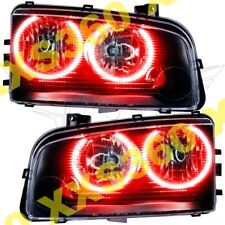 ORACLE Halo HEADLIGHTS (non HID) Dodge Charger 05-10 RED LED Angel Demon Eyes